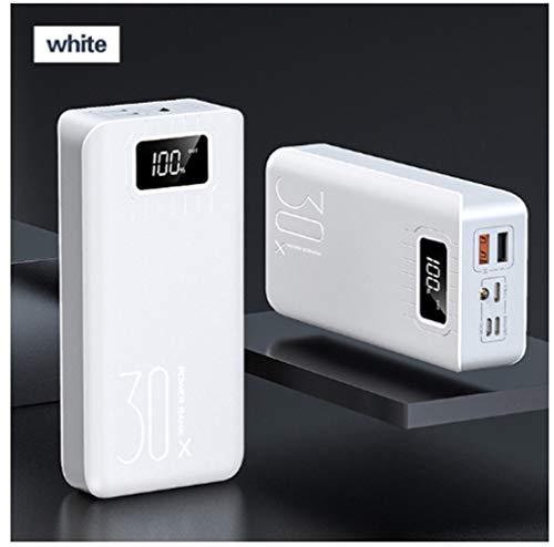 30000mah Power Pack Typ-c Micro Usb Qc Schnellladung Power Led Display Tragbares Externes Ladegerät Für Iphone Samsang, Weiß