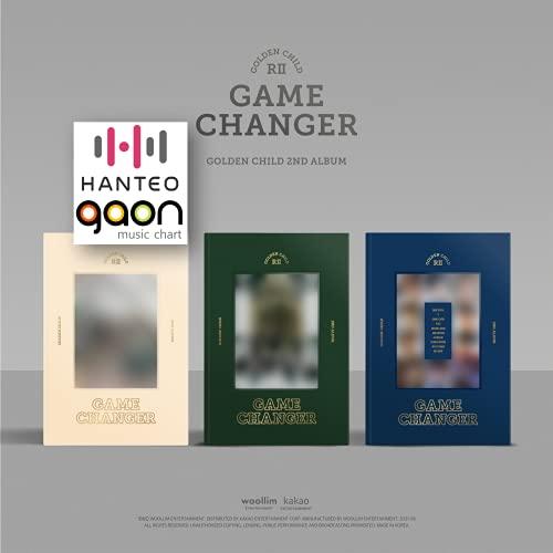 Golden Child - Game Changer (Random ver.) (2nd Album) Album+BolsVos K-POP Webzine (9p), Decorative Stickers, Photocards