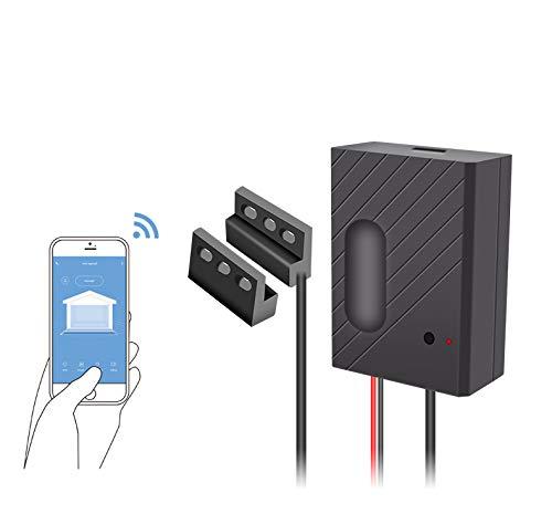 Ouvre-porte de garage Wi-Fi Compatible avec Alexa/Google Home. Votre porte de garage depuis n'importe quel endroit, compatible avec la plupart des marques de porte pour garage Smart Life Tuya.