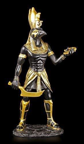 Horus Figur - Ägyptischer Krieger schwarz-Gold - Deko Ägypten Statue Gott Götter