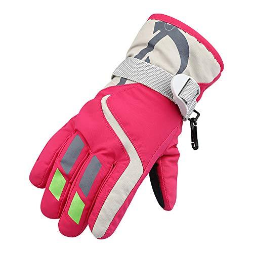 dkjawjcn Kinder Skihandschuhe Warme Handschuhe wasserdichte Winddichte rutschfest für 5-8 Jahre Jungen Mädchen Skifahren Wandern Radfahren Winter