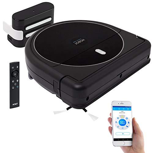 Sichler Haushaltsgeräte Wisch Saugroboter: Multiroom-Saug- und Wisch-Roboter mit WLAN, App und 4-Phasen-Reinigung (WLAN Staubsauger Roboter)