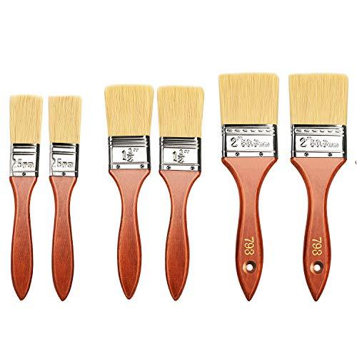 Astarye 6PCS Pincel Set, Brochas Pintura Para Pintar Paredes, Muebles -25/38/50 mm