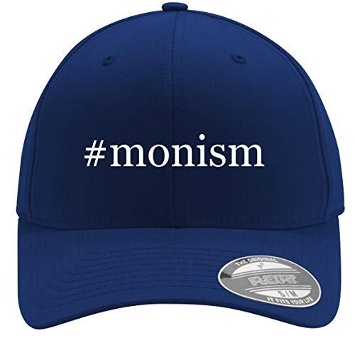 #Monism - Adult Men's Hashtag Flexfit Baseball Hat Cap, Blue, Large/X-Large
