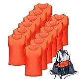 Antoyo Pinnies Soccer pinnies for SoccerMeshBasketball Jerseys Orange-L