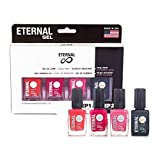 Eternal Gel Collection - Nail Polish Set of 3 Colors and 1 Gel Top Coat - Long Lasting, Mirror Shine, Quick Dry (0.46 Fluid Ounces/13.5 Milliliters Each) – Cosmopolitan