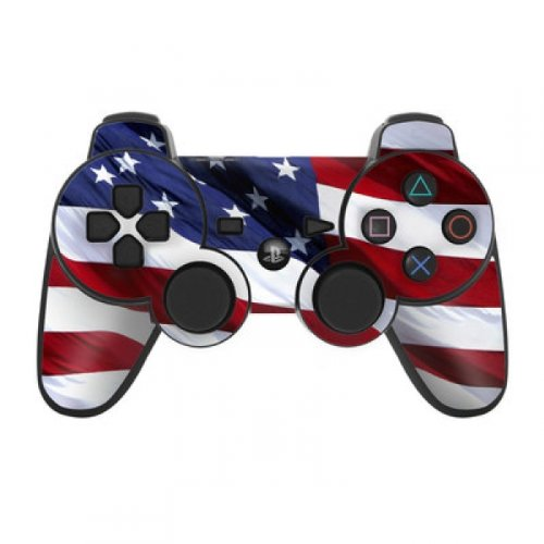 Skin Sticker Aufkleber Design kompatibel mit Sony Playstation 3 Controller Patriotic USA