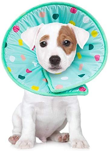 Smandy Schutzkragen Halskrause Weicher Schwamm Recovery Cone Collar Haustierpflege Wunde Kragen für Hunde und Katzen(L)