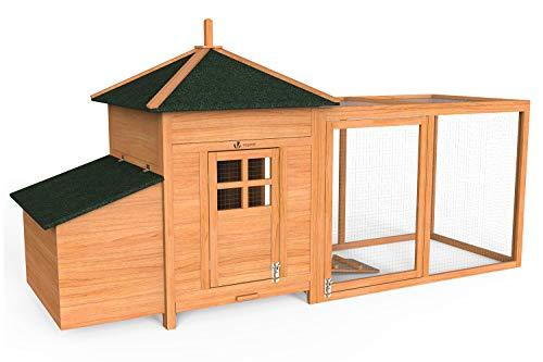 Vounot 4401916641303 Piccola casa di pollo, legno, pollame, 190 cm x 100 cm x 55 cm