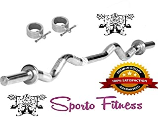 SPORTO FITNESS™ 3 FIT CURL Rod with Lock (20 MM)