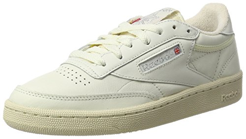 Reebok Club C 85 Vintage, Zapatillas para Mujer, Gris (Chalk/Silver Metallic/Paperwhite/Excellent Red),...