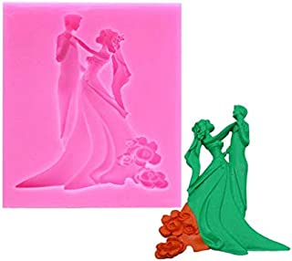 retail supplies Wedding Ceremony Couple Bride Groom 3D Silicone Mold
