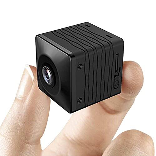 CHENPENG Mini cámara espía, cámaras Ocultas HD 1080P Cámaras de Video portátiles para Interiores con visión Nocturna y detección de Movimiento, para oficinas en el hogar, Interiores y Exteriores