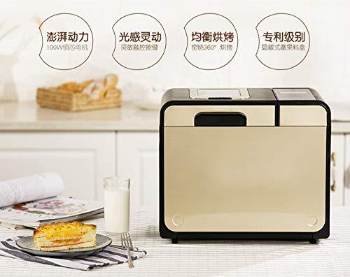 YLEI Brotbackautomat Edelstahl, Brotbackautomat glutenfrei mit 25 Programme, Start-Verzögerungs-Funktion, Brotgröße und Kruste einstellbar