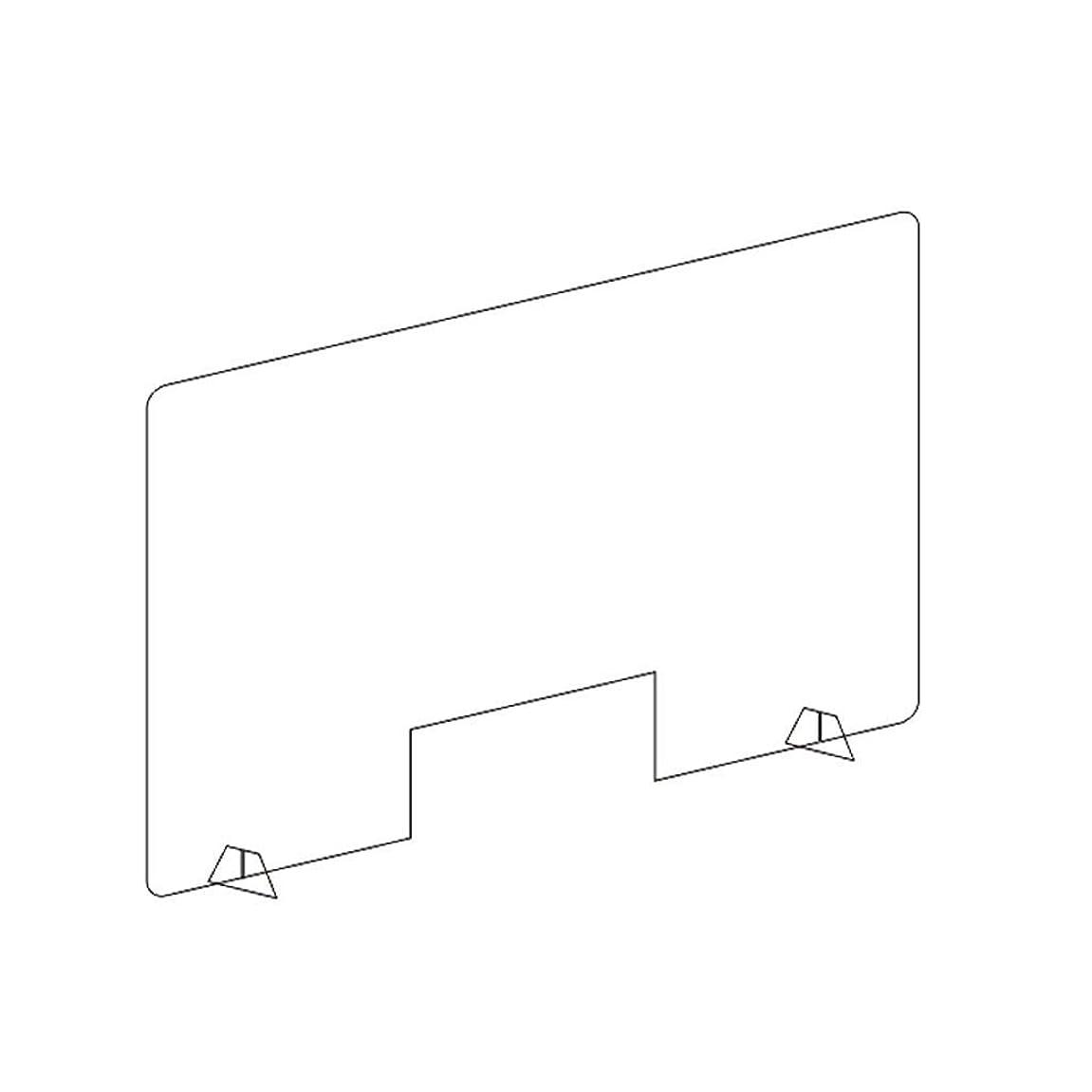 州構造的レギュラー保護くしゃみガード、ショップカウンター用スクリーン、保護くしゃみガード、パースペックスデスクディバイダーオフィス用透明保護図書館教室トレーディングウィンドウ(サイズ:60 * 40cm)