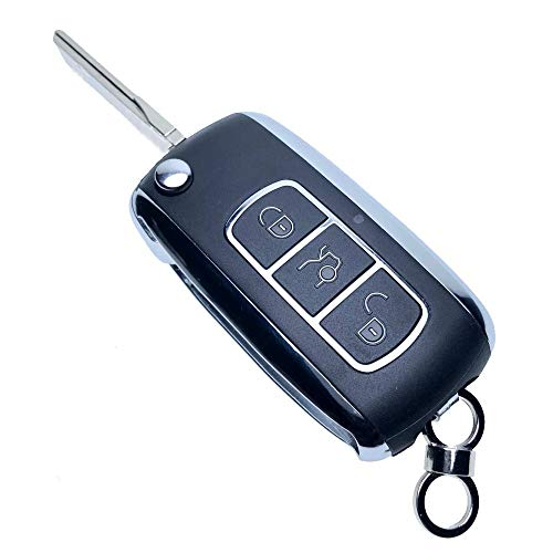 Uniqkey Chrome Style All in One Flip key remote Replacement for RX330 RX350 RX400h Keyless Entry Control Fob Clicker switchblade Transmitter folding transponder chip Alarm beeper