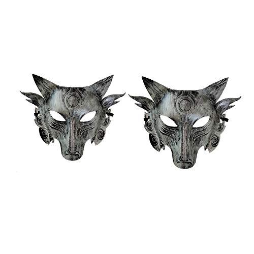 Werewolf Killing Mask Funny Wolf Head Mask (2pcs Silver)