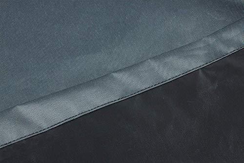 HENTEX Schutzhülle Cover Eckbank für Gartenmöbel Abdeckung L-Form, Grau, 255x255x100x70H cm - 7