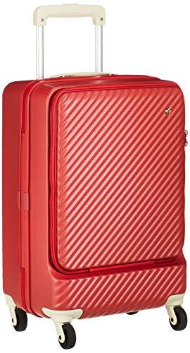 [ハント] スーツケース マイン ストッパー付き ジッパータイプ 48cm 33L 機内持込みサイズ フロントオープンタイプ 05744 機内持ち込み可 34L 48 cm 3.3kg アネモネレッド