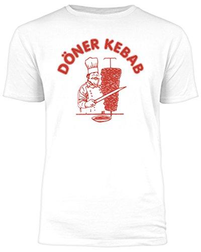 Outfitfaktur Döner Kebab - Weißes Herren T-Shirt - Größe L