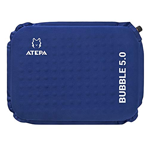 ATEPA クッション 座布団 低反発 携帯座布団 エアピロー 厚さ5cm コンパクトマット インフレータブル アウトドア キャンプ 観戦 花見 出張 自宅 オフィスに最適 携帯まくら