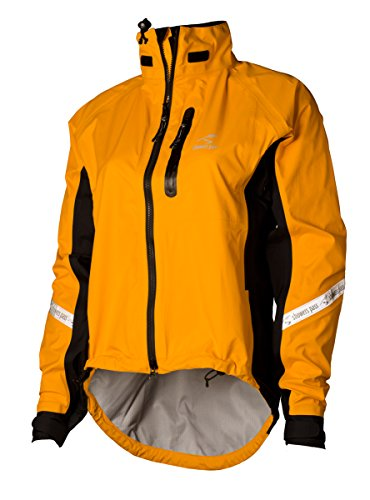 Showers Pass Waterproof Breathable Women's Elite 2.1 Cycling Jacket (Gold - LG)