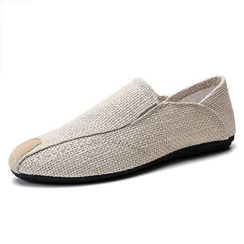 HANG Calzado de confort para hombres Zapatillas de deporte de primavera/otoño Zapatos de negocios de conducción informal,White,43