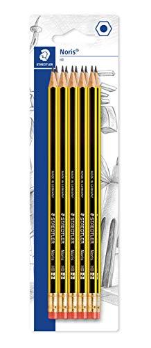 Staedtler 122-2BK10D Noris Bleistift HB mit Radiertip 10 Stück auf Blisterkarte