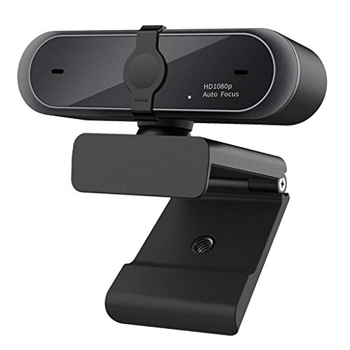 Prettyia Webcam, HD Webcam 1080P Pro Streaming Web Camera with Microphone, Widescreen USB Computer Camera for PC Mac Laptop Desktop Video Calling Conferencing