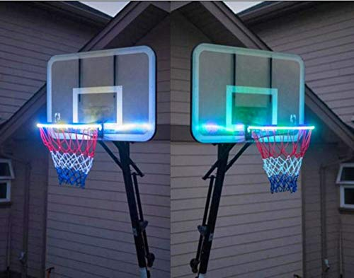 New ZHMEZH Waterproof Basketball Rim LED Light Swish, Glow-in-The-Dark Rim Lights Full Size-Super-Br...