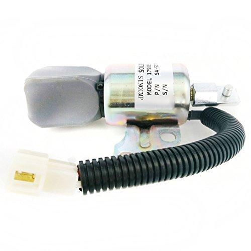 SINOCMP 1756ES-24SUC5B1S5 SA-5176-24 Électrovanne d'arrêt 24 V pour pièces Kubota