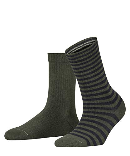 ESPRIT Damen Sporty Stripe 2-Pack Socken, rot (fire tree 7400), 39-42 (2er Pack)