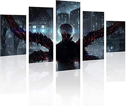 HUA JIE Kunst Dekorative Malerei to-Ky-O Gh-OUL Kin-Kiken Leinwand Wandkunst Gemälde Für Zuhause Wohnzimmer Büro Mordern Dekoration Geschenk