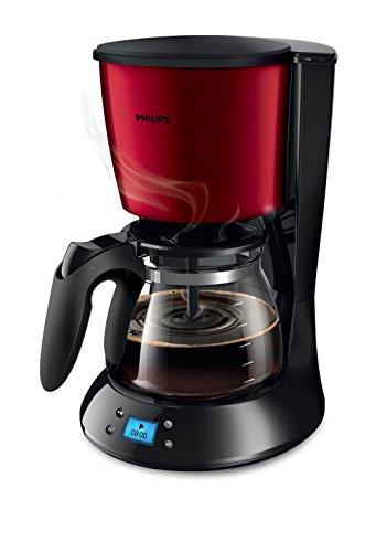Philips Daily Collection HD7459/61 autonome – Cafetière (autonome, Cafetière à Filtre, 1,2 l, de café moulu, 1000 W, noir, rouge)