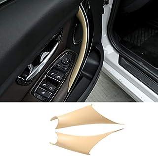 TTCR-II Door Handle Covers for BMW 3 Series 4 Series Driver and Passenger Side, 2 Pcs Door Pull Handle Wraps Fit BMW 320i 328i 330i 335i F30/F31 2012-2018 and BMW 428i 435i F32/F36 2014-2017 (Beige)