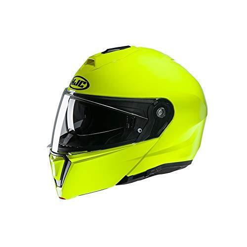 HJC NC Casco per Moto, Hombre, Verde Fluo, XL