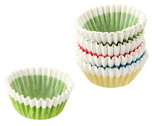 Fackelmann 100 Pralinenförmchen, Papier, mehrfarbig, 3.5 x 2.7 x 2 cm, 100-Einheiten