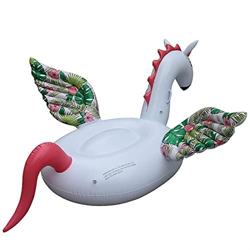 SCAYK Gigante Unicornio Piscina Flotador de Flotador para colchón Adulto Círculo de natación Círculo Flotante Fila Fila de la Cama Tubo Tubo Piscina Película Toyas Fideos Flotadores Inflable Camping
