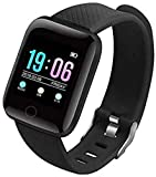 SilverX M5 Fitness Band 1.3 Inch Color Screen Wristband Smartwatch (Black Strap, Free Size)