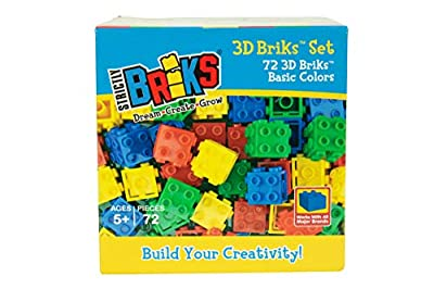 Strictly Briks Classic Bricks 3D Building Creative Play Set, 100% Compatible with All Major Brick Brands from