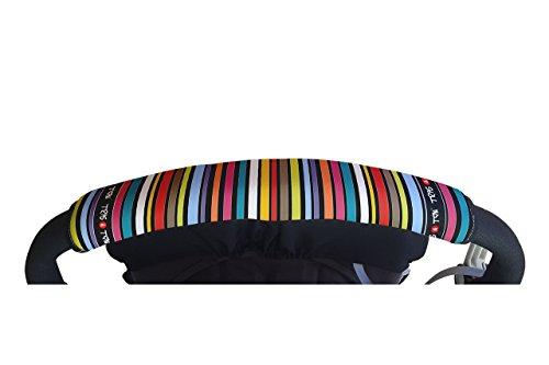 Tris&Ton Fundas empuñaduras horizontales Modelo Monkey, empuñadura funda para silla de paseo cochecito carrito carro (Tris y Ton)