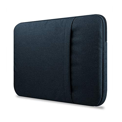 For Macbook air pro11/12/13/15 inch Mac Case Laptop Sleeves Case Bag Cover Suitable with Pocket Compatible(Blue)