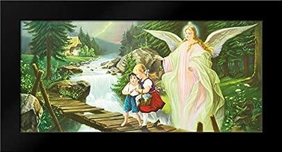 Guardian Angel 24x13 Framed Art Print by Lindberg