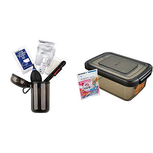 【セット買い】HAKUBA カメラメンテナンス用品セット クリーニングトラベルキット6 携帯用ボトル入り 6点セット KMC-73 & HAKUBA ドライボックスNEO 5.5L スモーク KMC-39