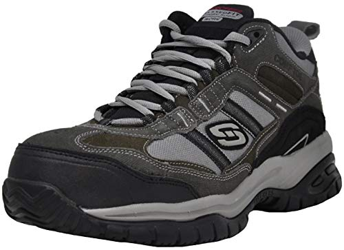 Skechers for Work Men's Soft Stride Canopy Slip Resistant Work Boot, Charcoal 10.5