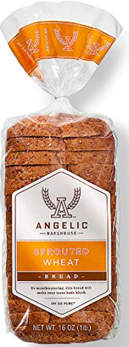 ANGELIC BAKEHOUSE Bread Sprouted Wheat, 16 Ounce (Pack of 8)