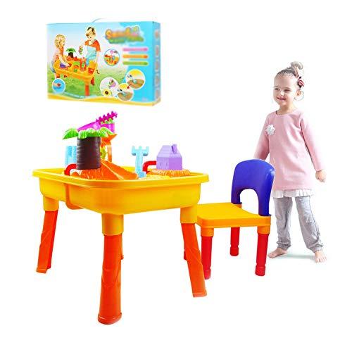 Zand En Water Speeltafel Voor Buiten, Zand- En Watertafel Met Deksel En Accessoires Buitenspeeltuin Voor Kinderen,A