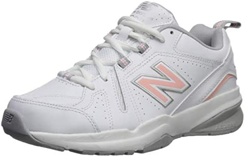 New Balance Women s 608 V5 Casual Comfort Cross Trainer White Pink 7 W US product image