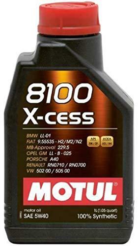 Motul 8100 X-cess 5W40 volledig synthetische motorolie, 1 liter