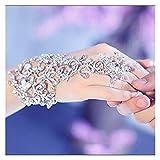 WUBBHIN Gants de Protection Solaire Gants de mariée Cristal élégant de Luxe Bracelet de Mariage Gant de mariée Partie de Bracelet de Bracelet de Bracelet de Bracelet (Color : Gold)